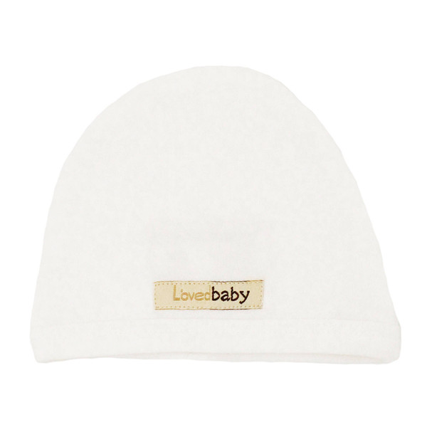 Organic Cute Cap in White, Flat