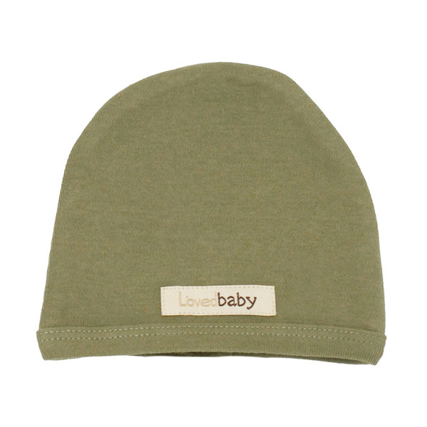 Organic Cute Cap in Sage, Flat