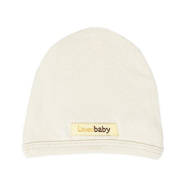 Organic Cute Cap in Beige, Flat