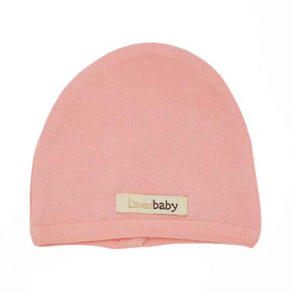 Organic Cute Cap in Coral, Flat