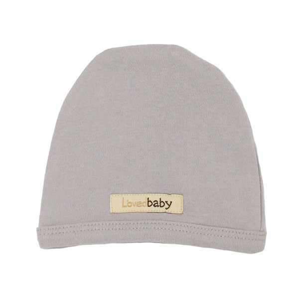 Organic Cute Cap in Light Gray, Flat
