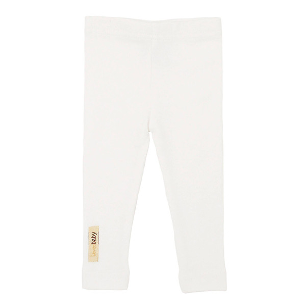 Organic Leggings in White, Flat