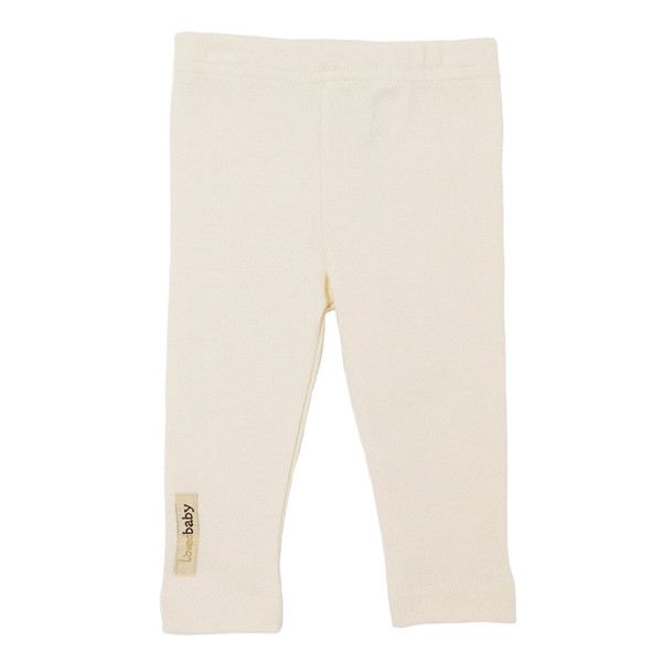 Organic Leggings in Beige, Flat