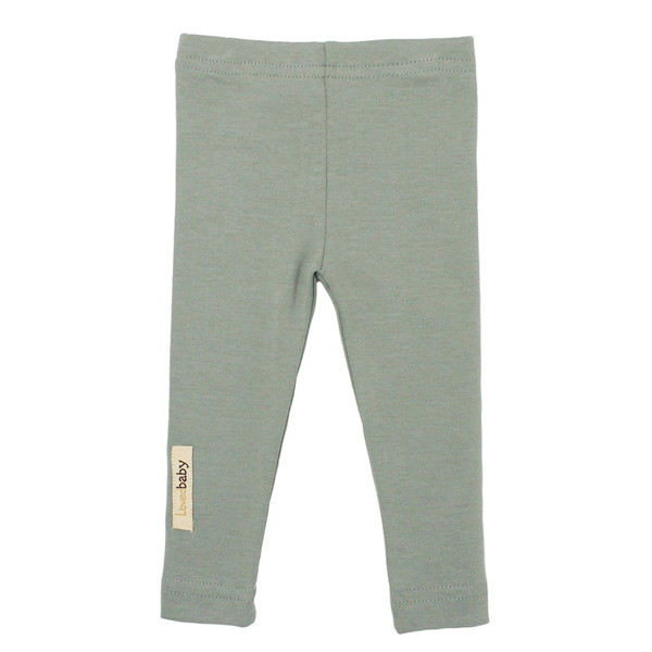 Organic Leggings in Seafoam, Flat