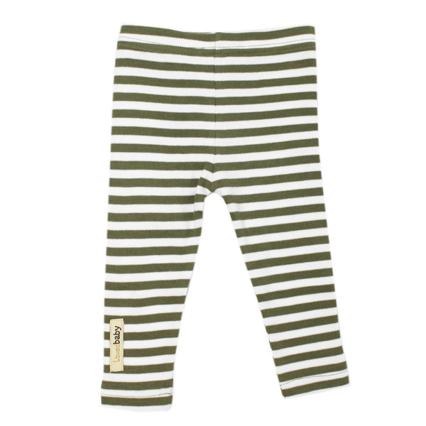 Organic Leggings in Sage/White, Flat