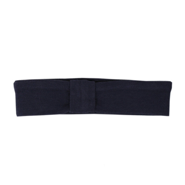 Organic Headband in Navy, Flat
