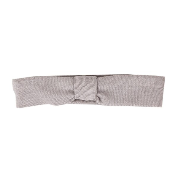 Organic Headband in Light Gray, Flat
