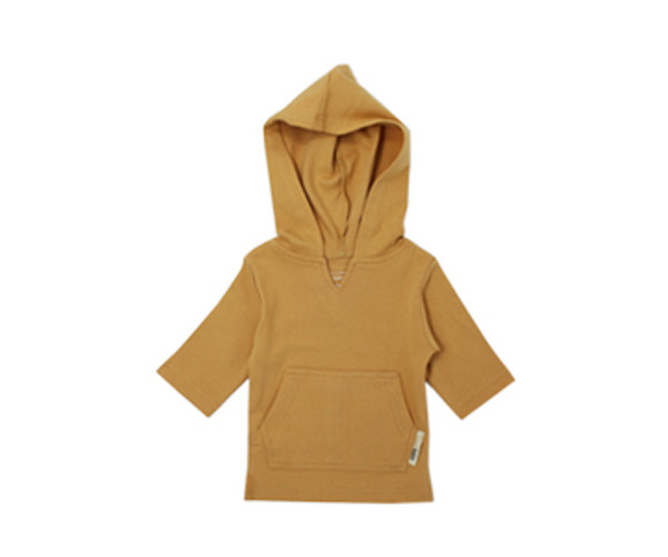Organic Kids' Hoodie in Honey, Flat
