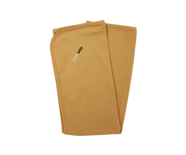 Organic Swaddling Blanket in Honey, Flat