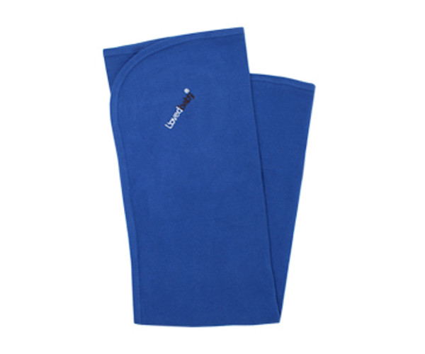 Organic Thermal Swaddling Blanket in Sapphire, Flat
