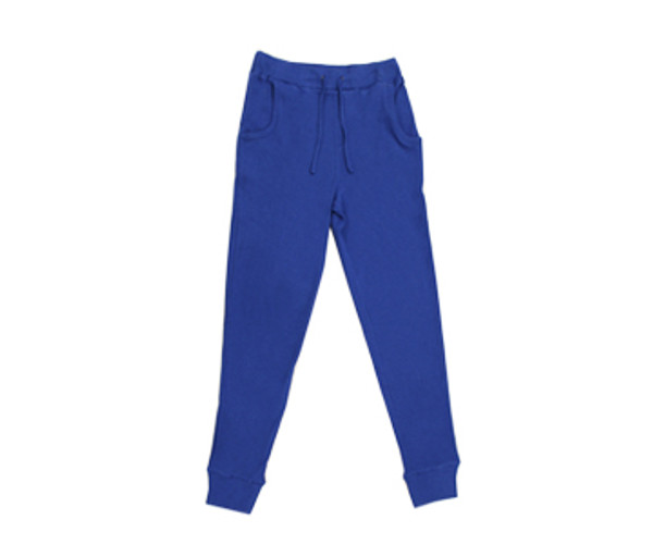 Organic Thermal Men's Jogger Pants in Sapphire, Flat