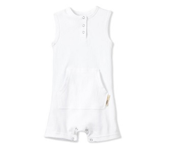 Shortalls in White, Flat