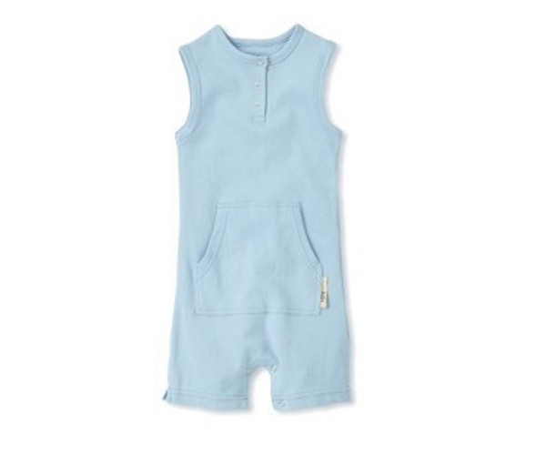 Shortalls in Blue, Flat