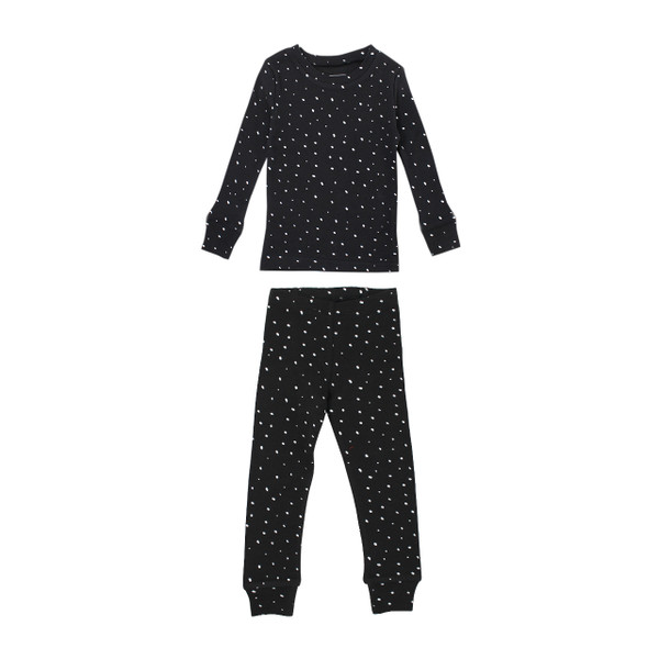 Organic Kids' L/Sleeve PJ Set in Confetti, Flat