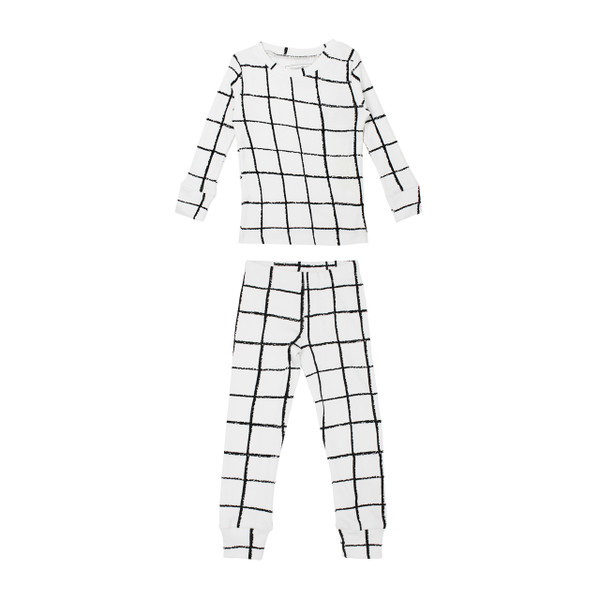 Organic Kids' L/Sleeve PJ Set in Hopscotch, Flat