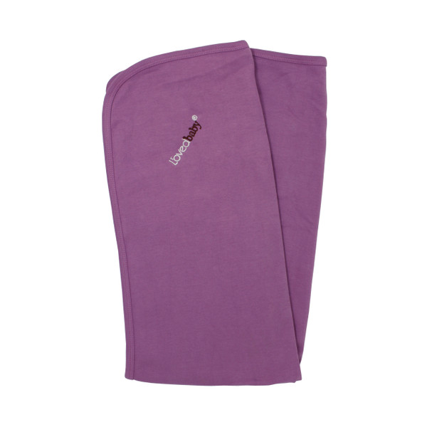Organic Swaddling Blanket in Grape, Flat