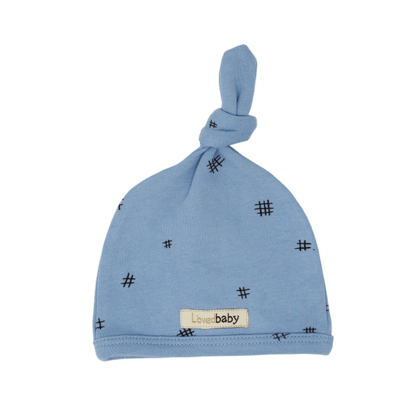 Organic Top-Knot Hat in River Hatch, Flat