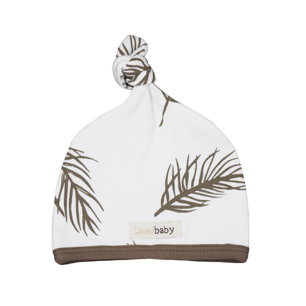 Organic Top-Knot Hat in Bark Palm, Flat