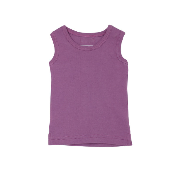Organic Kids' Racerback Tank in Grape, Flat