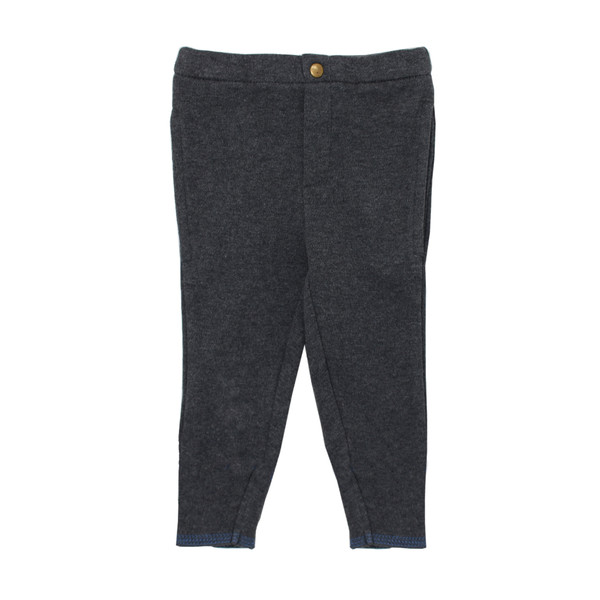 Organic Cuffed Pant in Dark Heather/Slate, Flat