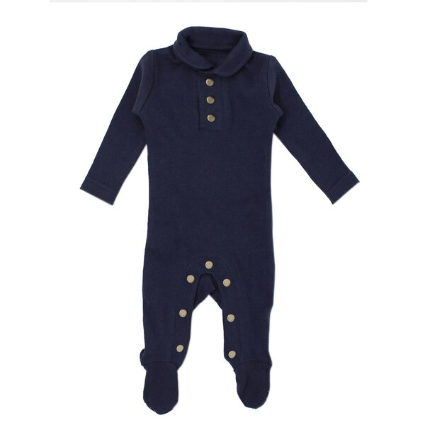 Organic Polo Overall in Navy, Flat
