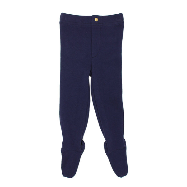 Organic Footed Legging in Navy (Up to 6-9m), Flat