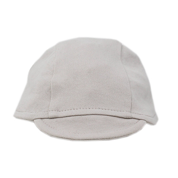 Organic Riding Cap in Pebble, Flat