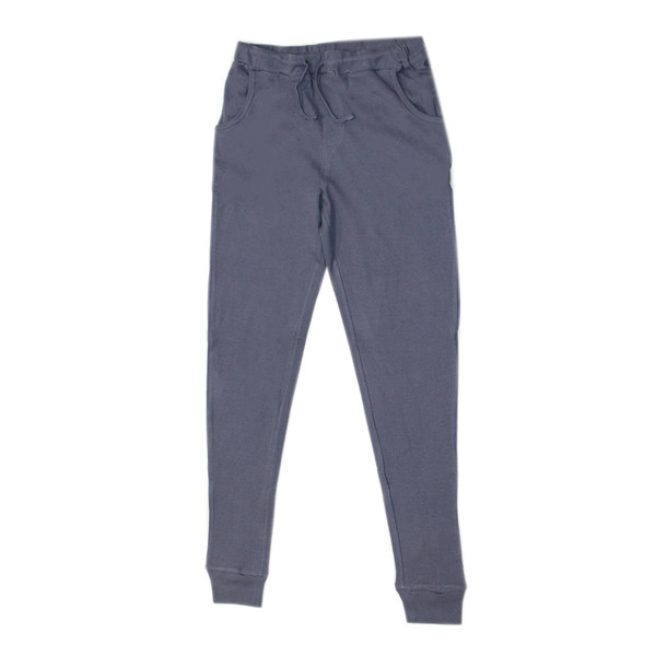 Organic Thermal Men's Jogger Pants in Dusk, Flat