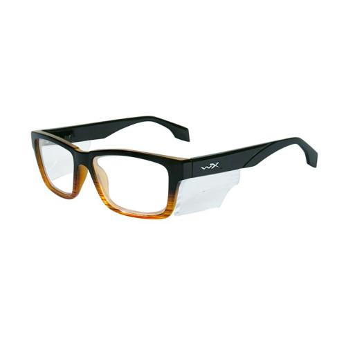 Wiley X Contour | Clear Lens w/ Gloss Black Brown Stripe Frame