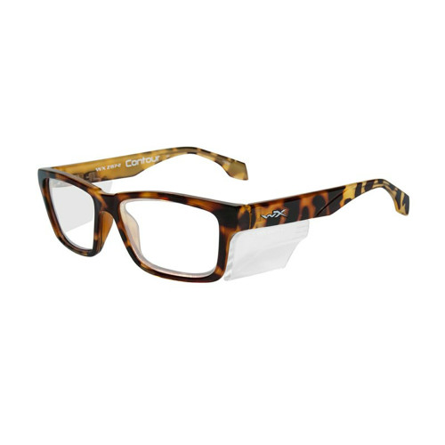 Wiley X Contour | Clear Lens w/ Gloss Brown Demi Frame