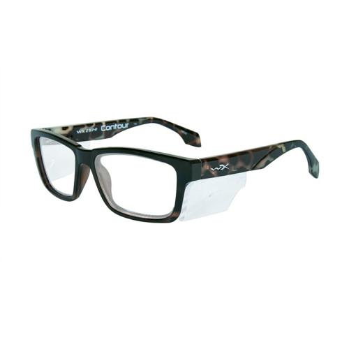 Wiley X Contour | Clear Lens w/ Gloss Black Demi Frame