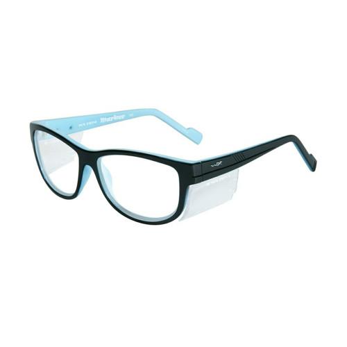 Wiley X Marker | Clear Lens w/ Gloss Black - Sky Blue Frame
