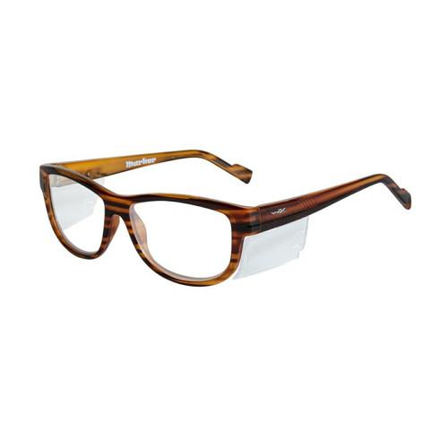 Wiley X Marker | Clear Lens w/ Gloss Brown Streak Frame