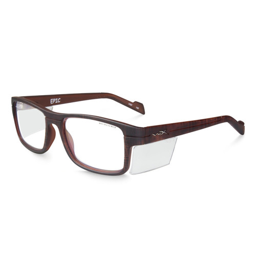 Wiley X Epic | Clear Lens w/ Matte Hickory Brown Frame