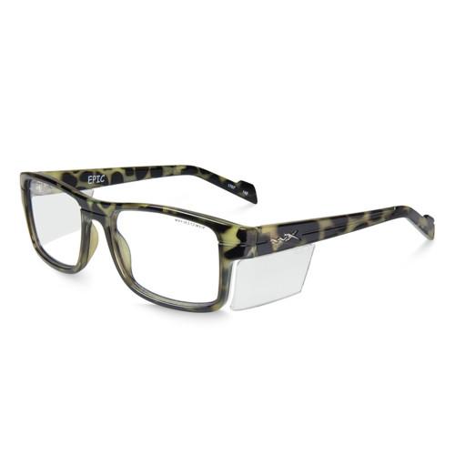 Wiley X Epic | Clear Lens w/ Gloss Black Demi Frame