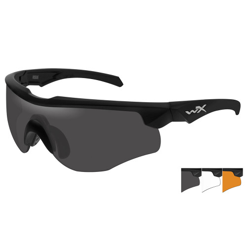 Wiley X Rogue   Three Lens w/ Matte Black Frame Comm Temple