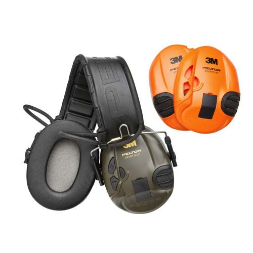 Peltor SportTac Headset Orange/Olive