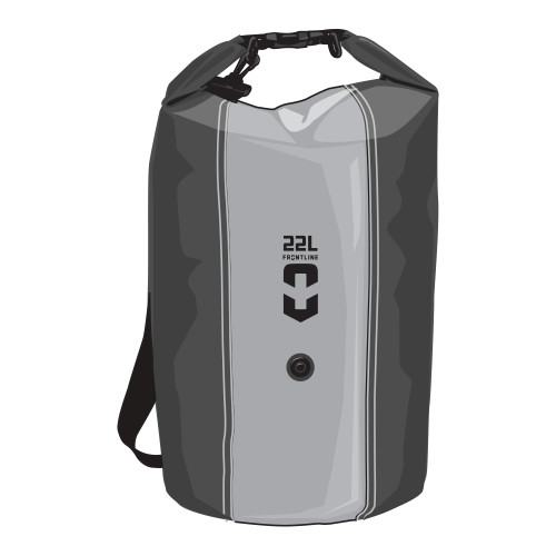 Frontline Dry Bag 22L Black/Grey