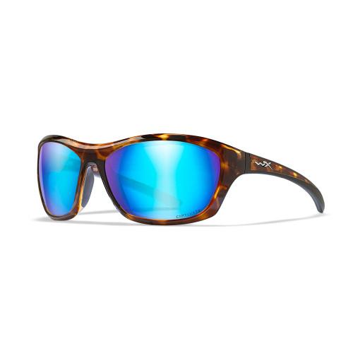 Wiley X Glory | Captivate Polarised Blue Mirror Lens w/ Gloss Demi Frame