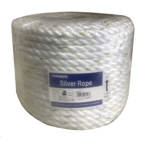 Silver Rope PE 3 Strand 6mm White 250m Roll