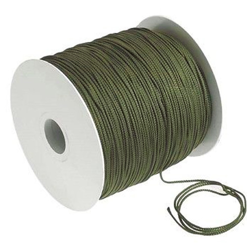 Braided Rope 8 Strand 2.5mm Green 500m Roll