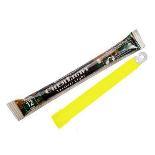 Cyalume Light Stick, Yellow 6in 12 hr, Box of 500