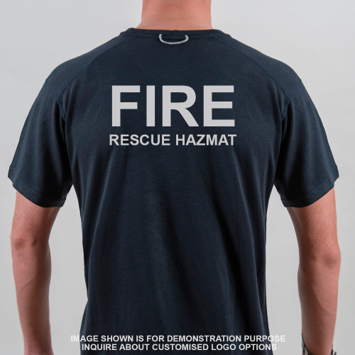 Frontline FR T-Shirt Navy FIRE