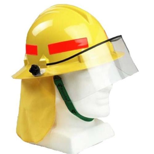 3M HF46 Type 3 Bushfire/Wildland Fire Fighting Safety Helmet w/ Elastic Chin Strap and Visor