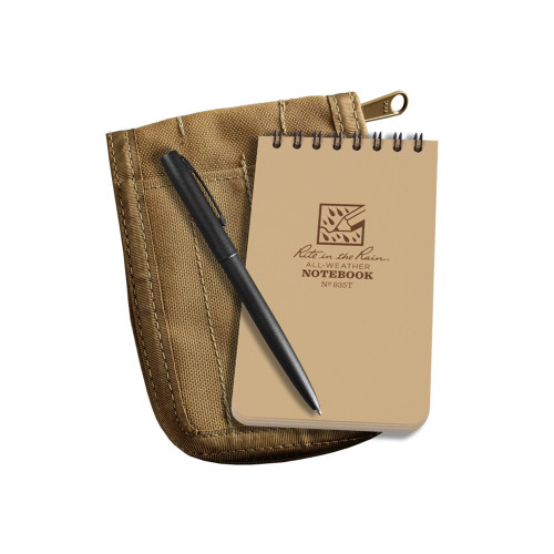 935T KIT - Tactical Notebook Tan w/ Cover and Pen