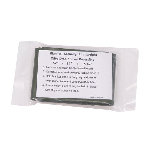 Casualty Blanket OD Green/Silver NSN: 7210-00-935-6666