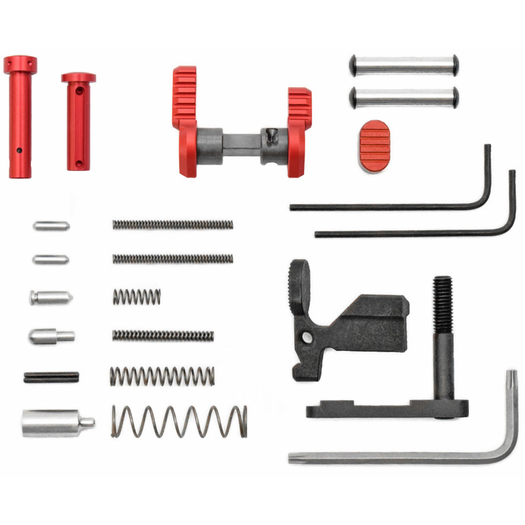 Armaspec Superlight Builder Parts Kit - Red Anodized