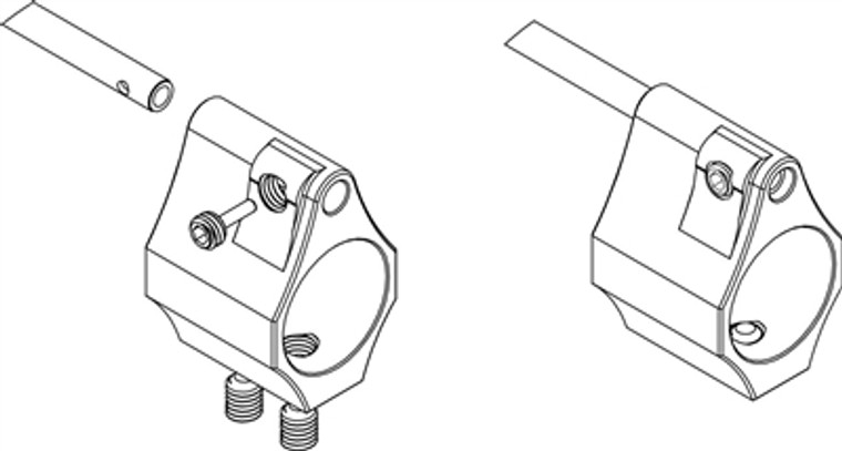 Adjustable Gas Block .750 Dia.  - With Threaded Roll Pin