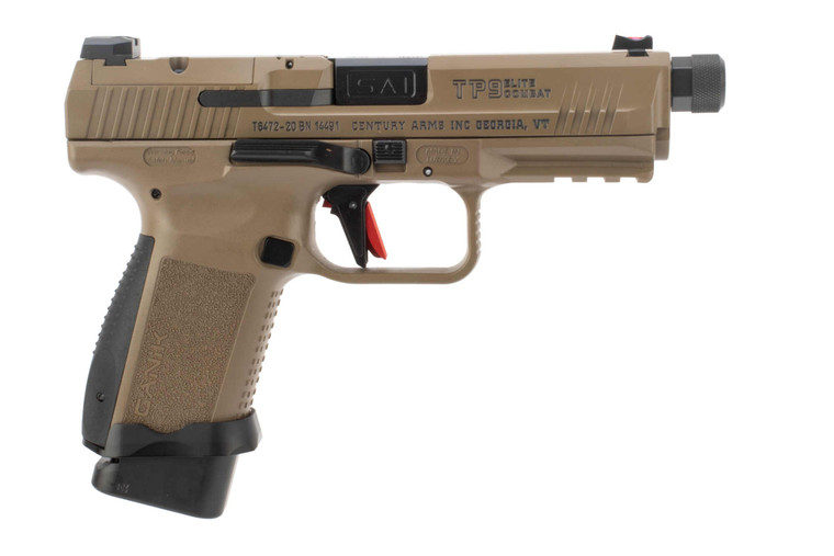 Canik TP9SF Combat Elite 9mm Pistol - FDE - Optics Ready - 18 Round