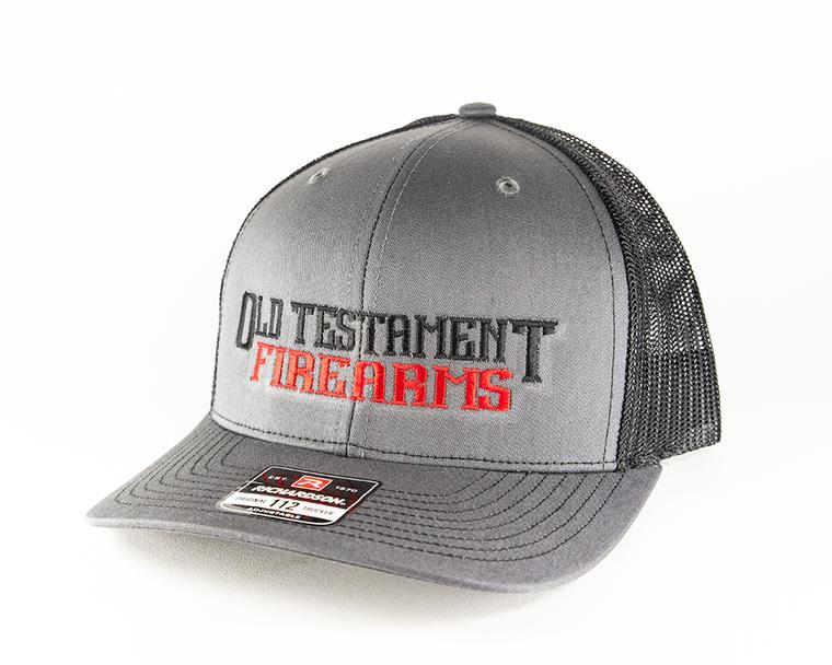 OT Firearms Trucker Hat - Gray with Black - Snapback